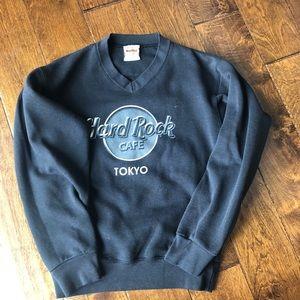 Vintage Hard Rock Cafe Tokyo vneck sweatshirt S